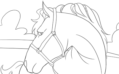 Horse – Coloring Page