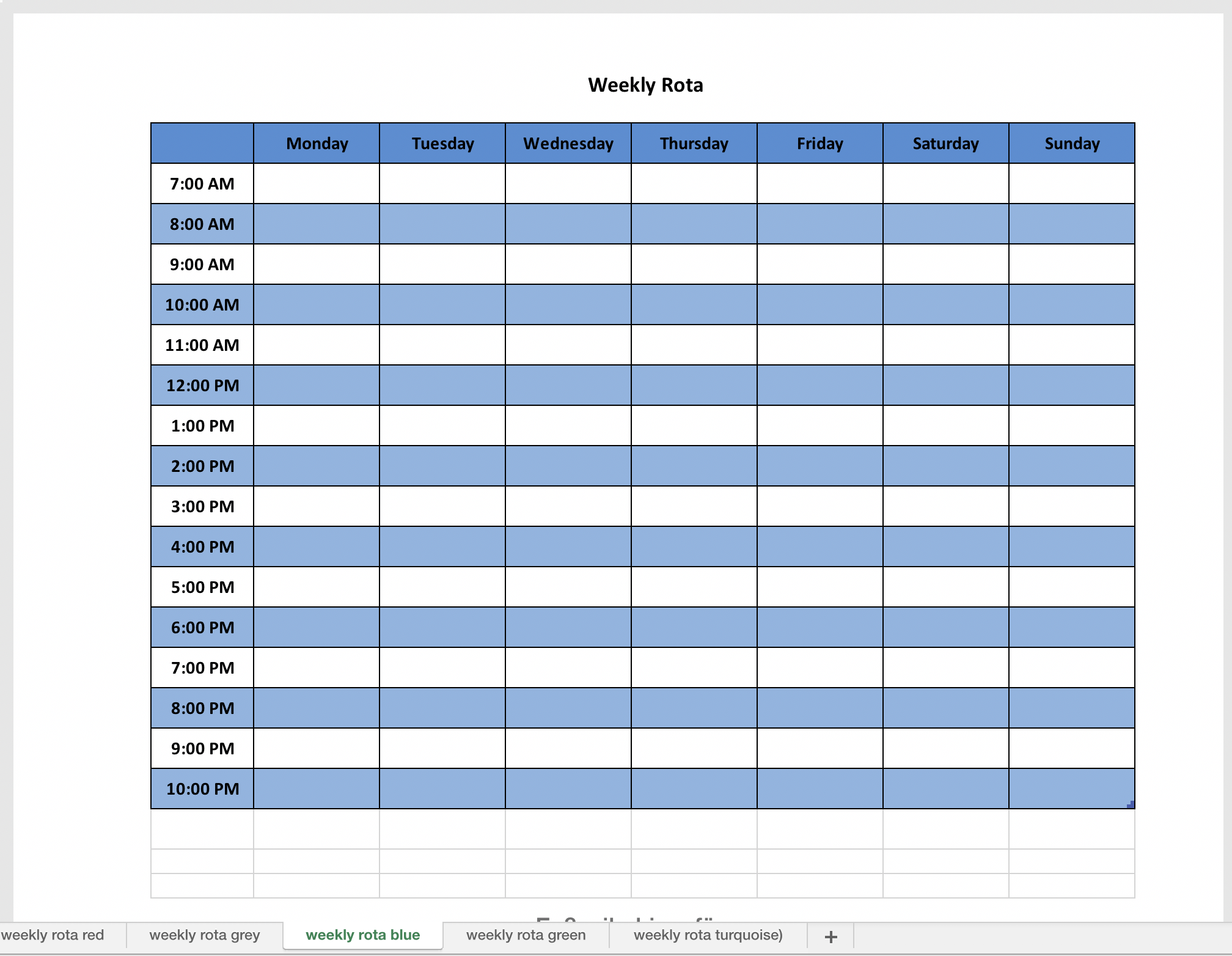 Free Weekly Planner Template World